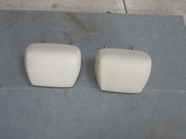 2009 BMW 328I SET OF 2 REAR HEADRESTS  BEIGE LEATHER