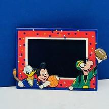 Walt Disney Magnet picture photo frame 4X3 vtg Mickey Mouse Goofy sports Donald  - $13.50