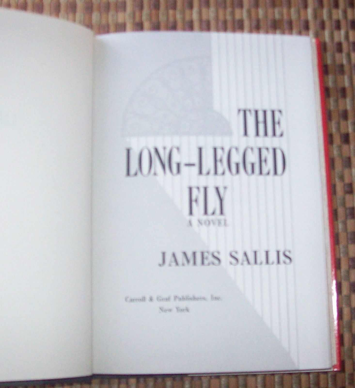 The Long-Legged Fly by James Sallis 1992 HBDJ New Orleans