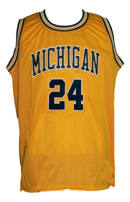 Jimmy king  24 retro college basketball jersey gold   1