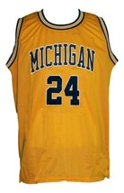 Jimmy King #24 College Retro Basketball Jersey Sewn Gold Any Size image 1