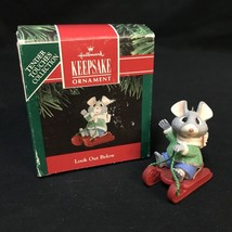 Hallmark Keepsake Christmas Ornament Look Out Below 1991 Mouse Tender Touches - $8.90