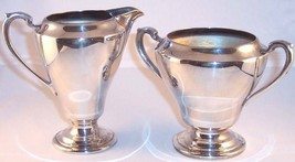 Vintage Colonial Rogers Silverplate Sugar (No Lid) and Creamer Set, 6853 & 6854 - $14.99