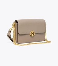 TORY BURCH CHELSEA CONVERTIBLE SHOULDER BAG Gray Heron Auth - $335.00