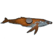"Rustic Rusted Patina Iron Metal Cutout Humpback Whale 5"" Refrigerator Magnet image 2"