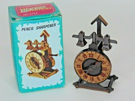 Vintage Die-Cast Pencil Sharpener Clock                                 ... - $6.92