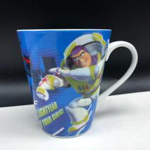 Walt Disney Coffee Mug Cup Pixar Toy Story Buzz Lightyear At Your Service Laser - $19.74