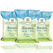 Grab Green Natural Wet Dryer Sheets, Reusable & Compostable, 64 Loads 3-... - $25.30