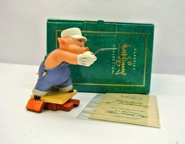 """WDCC Practical Pig Three Little Pigs """"Work and Play Don't Mix"""" w/ Box & COA - $37.49"""