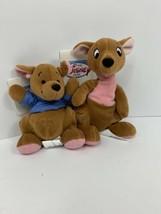 Disney Winnie The Pooh Kanga Roo Lot Of 2 Plush B EAN Ie B EAN Bag Plush Nwt - $32.68