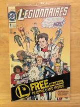Legionnaires #1 1993 DC Comic Book NM Condition 1st Print W/ Trading Car... - $2.69