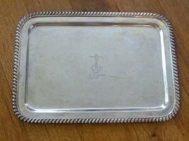 Vintage WW II Era USN Navy Wallace Silver Plate Serving Drinks Tray Mili... - $98.01