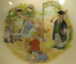 Royal Doulton Bunnykins Soup Cereal Bowl SCHOOL GATES Bone China England Vtg image 2