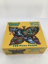 Rainforest Butterfly Shaped Puzzle 500 Piece Puzzle Sealed Box Has Sligh... - $18.69