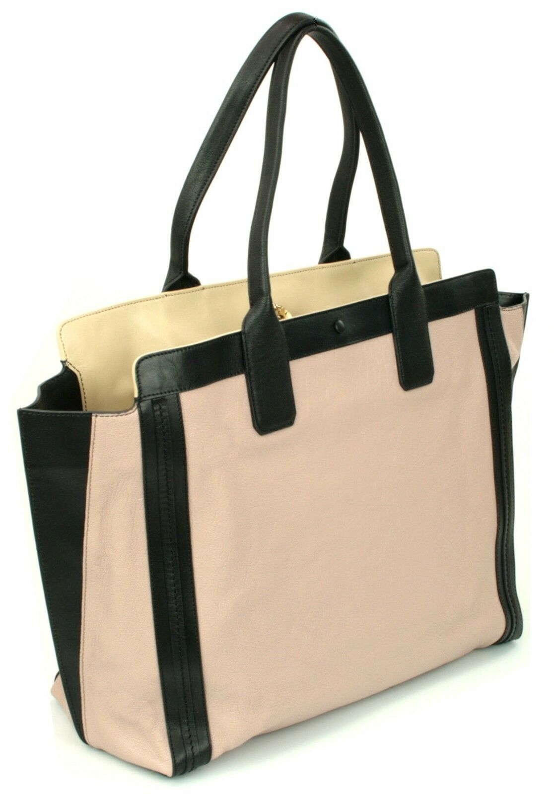 Chloe Alison Tote Bag Leather Tea Petal and Black Medium Handbag RRP £880  image 2