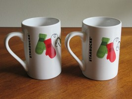Starbucks 10 oz Coffee Holiday Christmas Mug Cup Dove Mitten 2011 Glove ... - $19.99