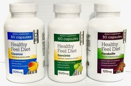1 month Supply Diet Weight Loss Kit - Garcinia, Forskolin & Cleanse Heal... - $14.84