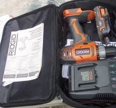 RIDGID 18-Volt Lithium-Ion Cordless Drill  Driver  Kit  - $65.00