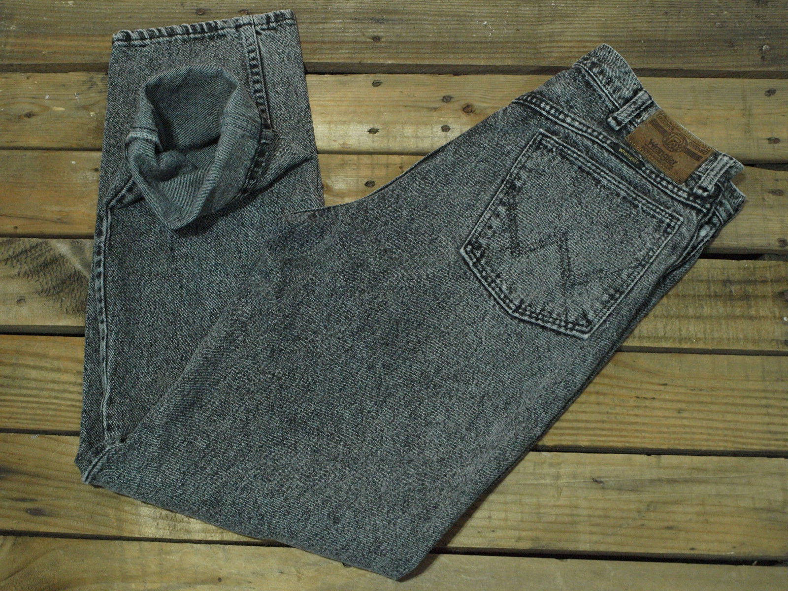 3f0bb152 Vintage Wrangler Jeans Grey Acid Wash 80's and 50 similar items