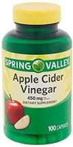 Spring Valley Apple Cider Vinegar Dietary Supplement, 450 Milligram, 100 Capsule - $14.59