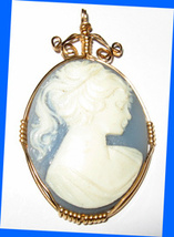 Wire Wrapped Acrylic Cameo - $7.95