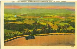 A View from Sky-Line Drive showing Shenandoah River and Valley, Virginia  - $5.99