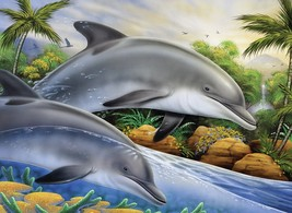 """Junior Large Paint By Number Kit 15.25""""X11.25""""-Dolphin Island - $11.99"""