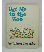 Put Me in the Zoo Robert Lopshire Dr Seuss 1960 HC Beginner Books Random... - $9.89