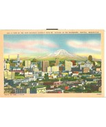 A View of the main Business district with mount Rainier, Seattle, Washin... - $5.99