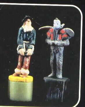 Wizard  of Oz Scarecrow & Monkey Salt & Pepper