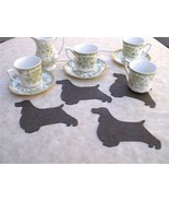 English springer spaniel shaped coasters set of 4 Limited edition, Dog s... - $7.00