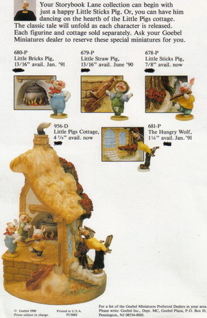 The Wolf Three Little Pigs Gobel Miniatures