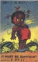 "Postcard Black Americana Piccaninni Pre-1955 ""Oh, I Is Not"" - $5.50"