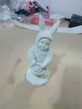 Dept 56 Snowbabies - Snowbunnies -Girl with Easter basket - $5.47