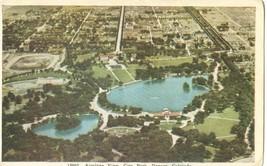 Airplane View, City Park, Denver, Colorado, 1930s unused Postcard  - $7.99