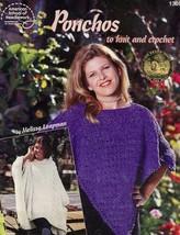Ponchos to Knit & Crochet 6 Designs Leaflet ASN1306 - $3.57