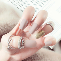24X Fake Finger Nails Shiny Acrylic Artificial False Full Cover Nail Art... - $4.30