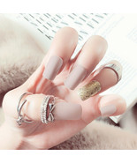 24X Fake Finger Nails Shiny Acrylic Artificial False Full Cover Nail Art... - $4.30