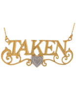 "10K or 14K Two Tone Gold ""Taken"" Necklace - $312.99+"