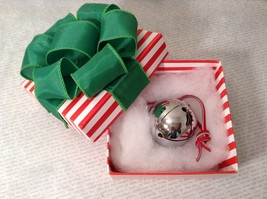 Polar Sleigh Bell w Hand Folded Constructed Box Express made by Elf Works Lane