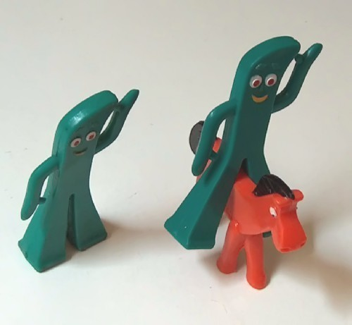 Vintage Gumby Set of Two plus Pokey by Jesco Prema Toy