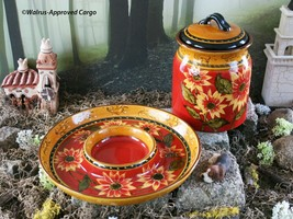 PIER 1 IMPORTS TERRACOTTA CANISTER AND CHIP & DIP BOWL - NEW – SOUTHWEST... - $74.95