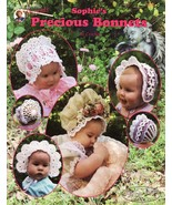 Sophies Precious Bonnets Crochet Patterns Book Baby Infant Easter 9 Designs     - $0.00