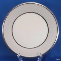 "Lenox Dimension Ivory Frost Salad Plate Beige Platinum Trim 8-1/8""  2nd ... - $9.90"