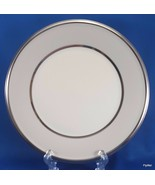 "Lenox Dimension Ivory Frost Salad Plate Beige Platinum Trim 8-1/8""  2nd ... - $9.90"