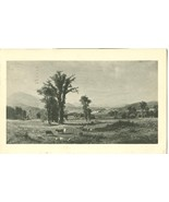 Ascutney Mountain from Claremont, NH, by Albert Bierstadt 1952 used Post... - $5.99