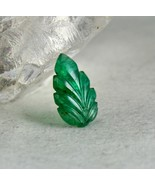 ZAMBIA NATURAL EMERALD CARVED LEAF 3.19 CARATS GEMSTONE FOR RING PENDANT... - $551.00