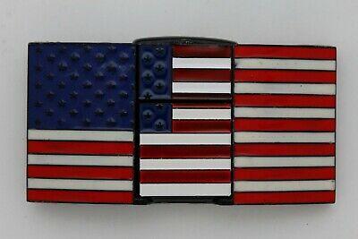 Hommes Motard Capuche Ceinture Boucle Métal Noir Drapeau Américain USA Hip Hop image 5