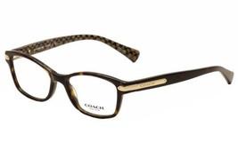 Authentic Coach Eyeglasses HC6065 5291 Dark Tortoise Military Frame 51mm... - $127.70