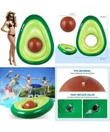 Obuby Inflatable Avocado Pool Float Floatie With Ball Fun Pool Floats Fl... - $36.99